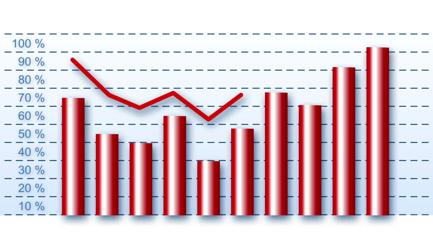 Business graph - growing barrels with curve showing positive trend | Shutterstock HD Video #12545063