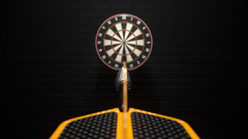 02401 Three Dart Arrows Hitting In Bullseye Of Dartboard | Shutterstock HD Video #12574133