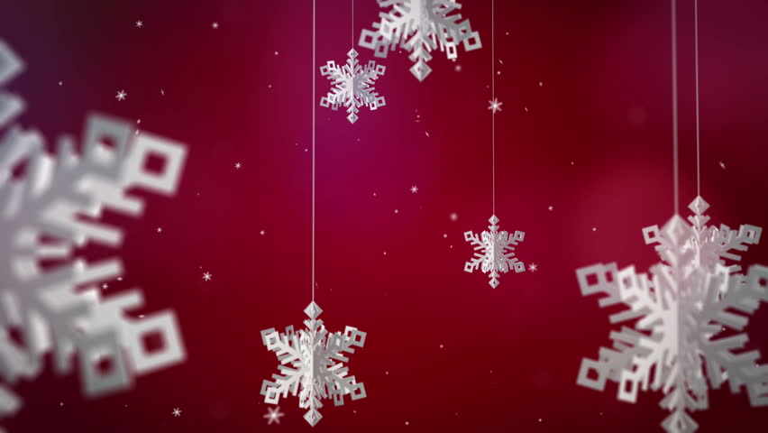 Clean Snowflakes 3d On Red Stock Footage Video 100 Royalty Free 12576863 Shutterstock
