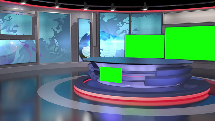 Stock Video Of Virtual Set Background For Green Screen