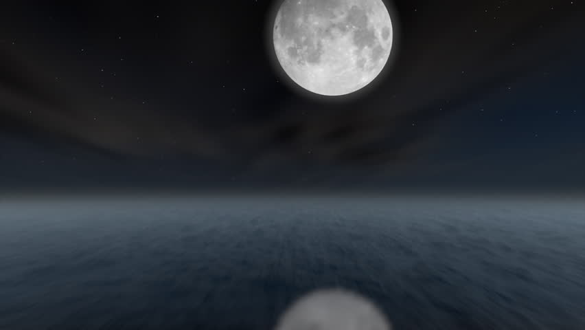 A Cloud time-lapse over 3d ocean (1080/24p)