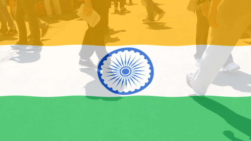 India Flag Black: Indian Puzzle. Black Background. 2 Videos In 1 File. 3D