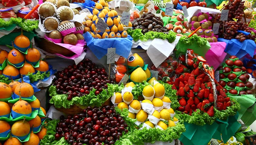 SAO PAULO, BRAZIL - JUNE 22: Fruit for sale in Mercado Municipal de São Paulo on June 22, 2011. Opened in 1933, Mercado Municipal de São Paulo is an important trading wholesale and retail establishment and is located in the historic center of São Paulo