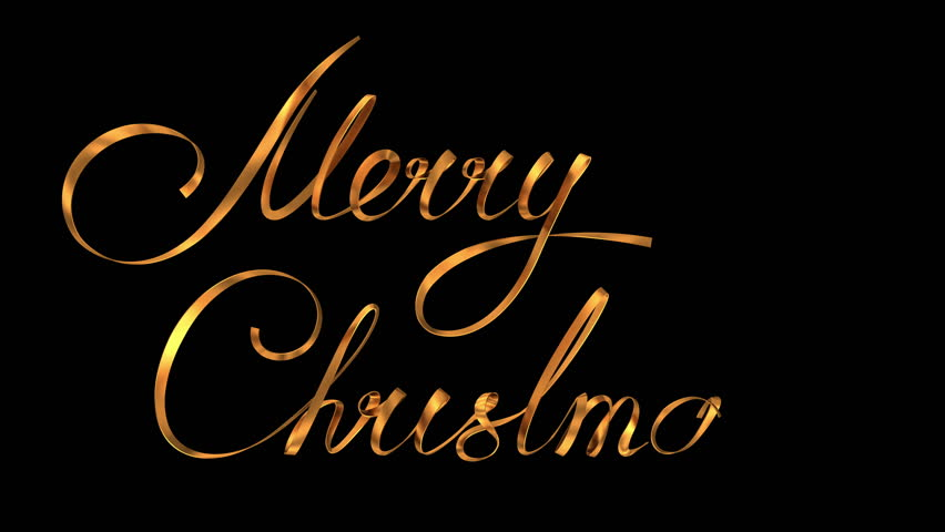 Merry Christmas Writing Images.Writing Golden Ribbon Text Merry Stock Footage Video 100 Royalty Free 12732173 Shutterstock