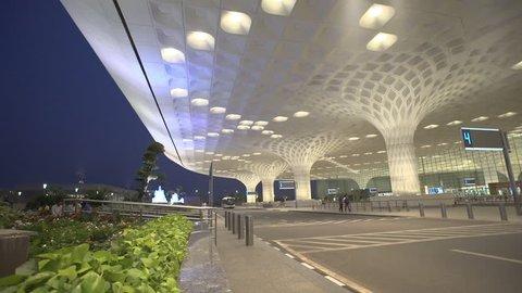 Mumbai, India, March 09, 2015: Exterior view of new terminal International Airport at Mumbai, Sahar, The Chhatrapati Shivaji International Airport shot on March 09 2015.