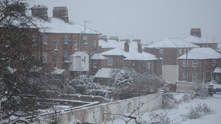 England Christmas Snow.Christmas Snow In English Town Stock Footage Video 100 Royalty Free 12756923 Shutterstock