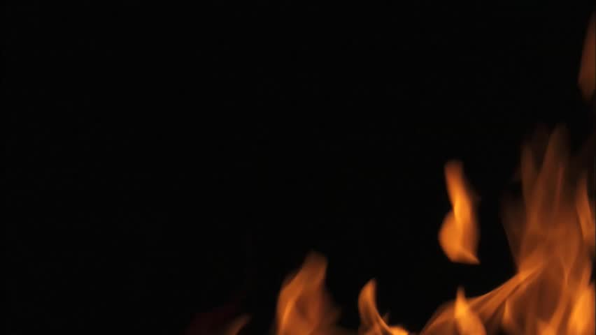 Abstract flames on a black background dancing in a hypnotic artistic way.