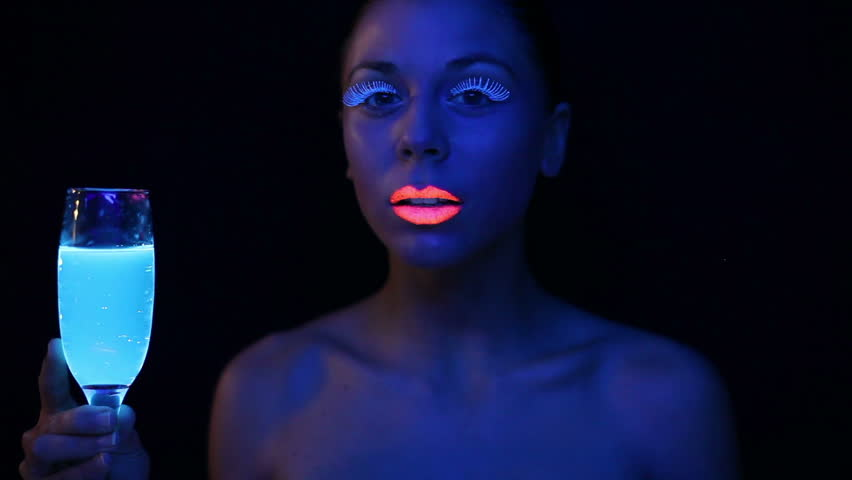 Woman Face With Fluorescent Make Up , Creative Makeup Great For ...