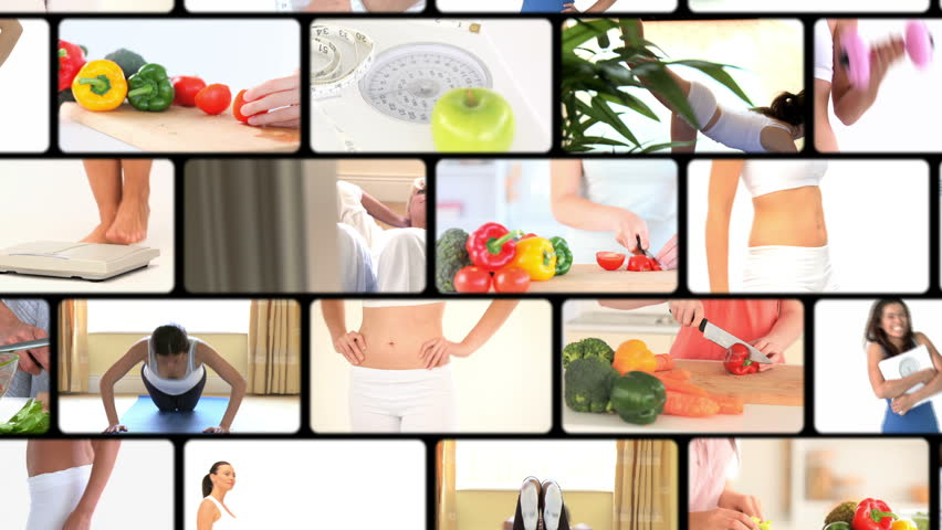 Montage of women dieting