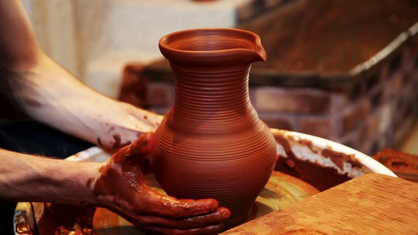 Professional Potter Making Ceramic Vase Stock Footage Video 100