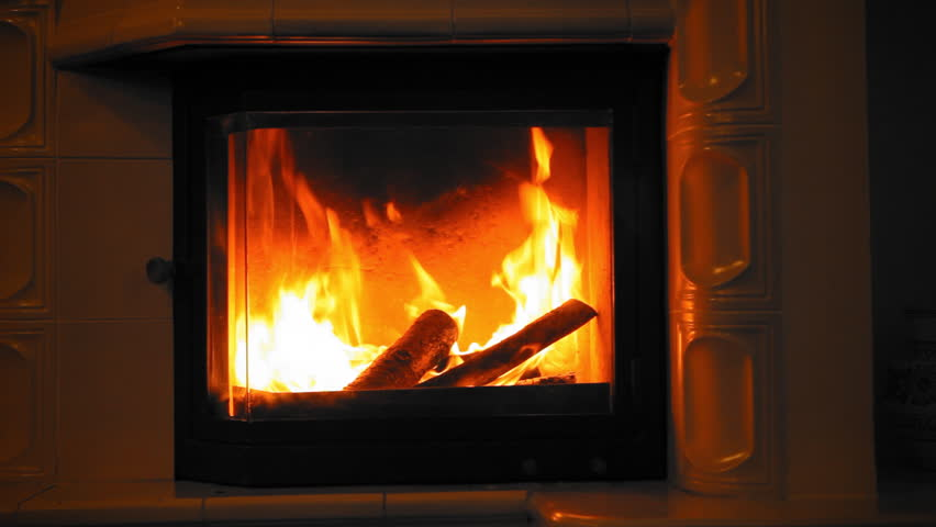 Burning Wood In The Fireplace. Stock Footage Video 21280345 ...