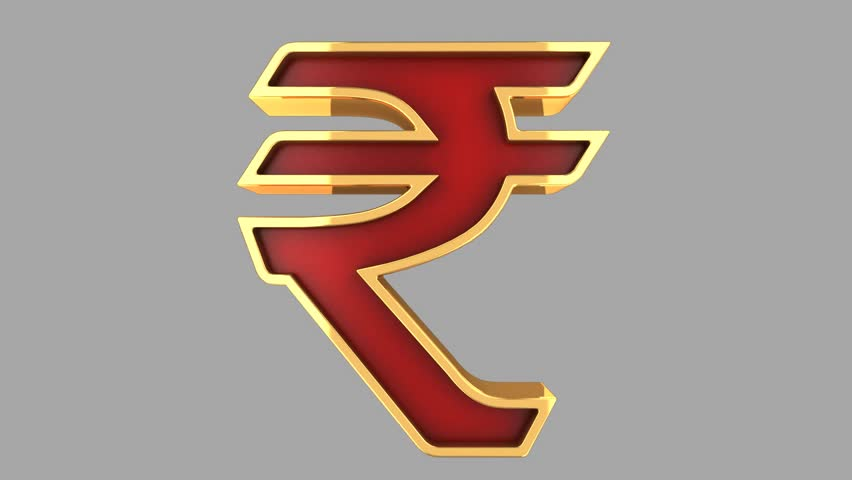 Indian Rupee Symbol Stock Video Footage 4k And Hd Video Clips