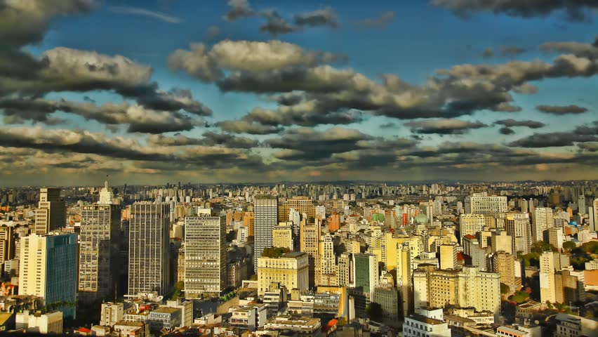 Sao Paulo Brazil skyline sunset time lapse #1295953