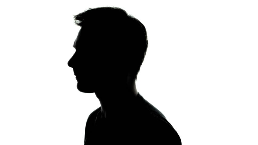 Common Young Adult Man Shape in Silhouette with T-Shirt and Rotating  | Shutterstock HD Video #12976682