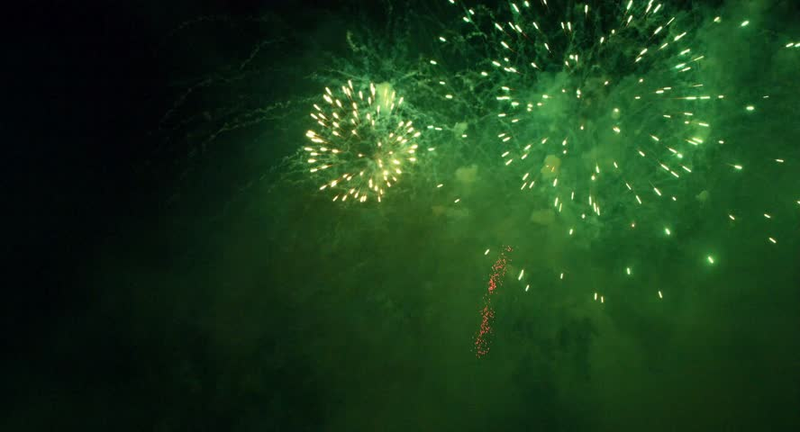 the fireworks during new year at Salzburg Castle, Festung Hohensalzburg, is an extremely impressive experience, Salzburg, New year 2015 , Blackmagic Cinema Camera 4K, Raw