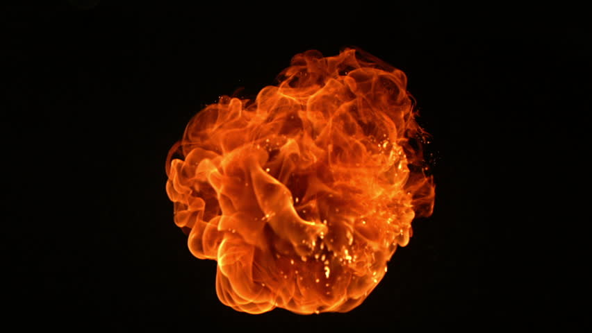 fire ball explosion shooting with high speed camera