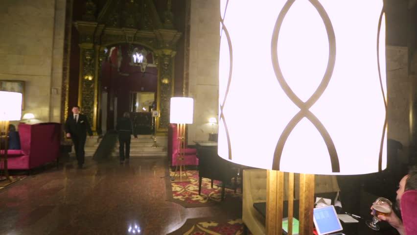Moscow Russia November 25 2017 Main Hall Of The Hilton Leningradskaya
