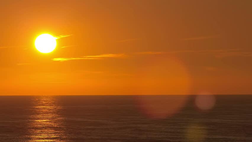 Beautiful sunset above the Black sea at Sochi  timelapse 4K