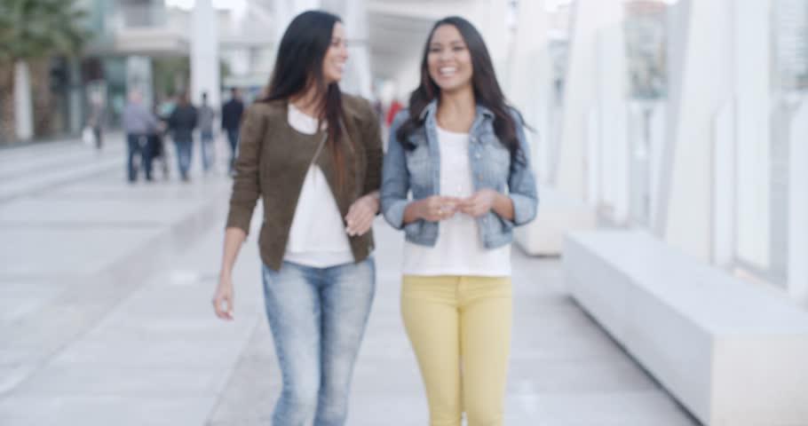 Teenage Girls Walking In High-School Hall Stock Footage Video 1065328  Shutterstock-5532