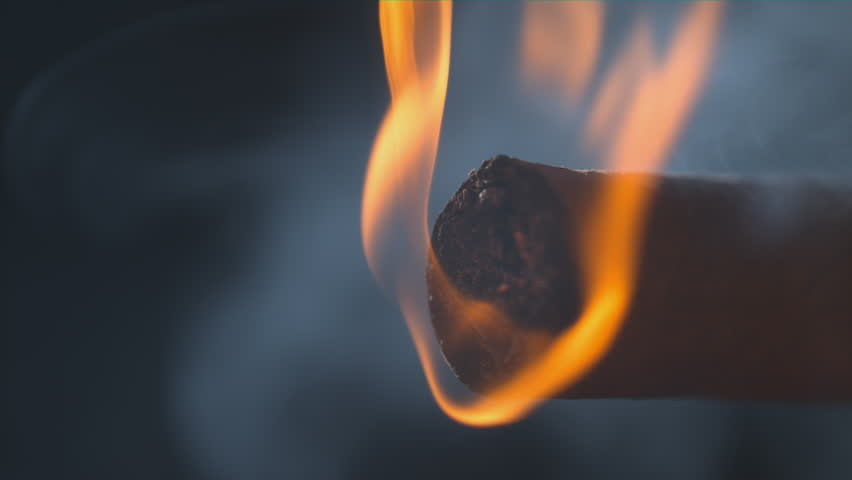 Cigar Glowing Ember macro slow motion shot on Phantom Flex 4k - Alpha Matte 1000 frames per second