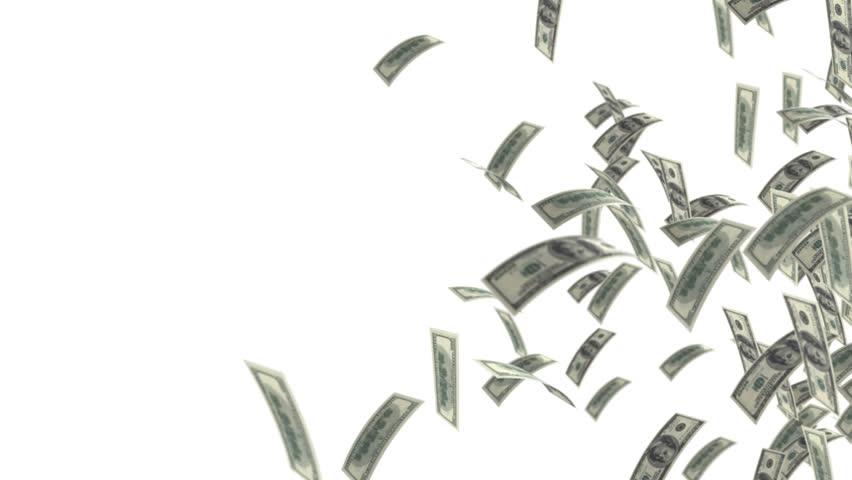 Dollars flying hd Cash flow  | Shutterstock HD Video #1318813