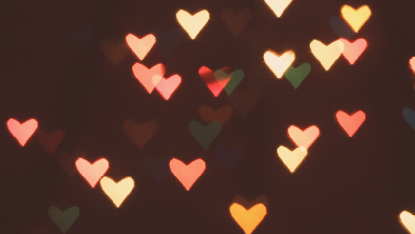 Heart Bokeh Background Valentines Day Stock Footage Video 100