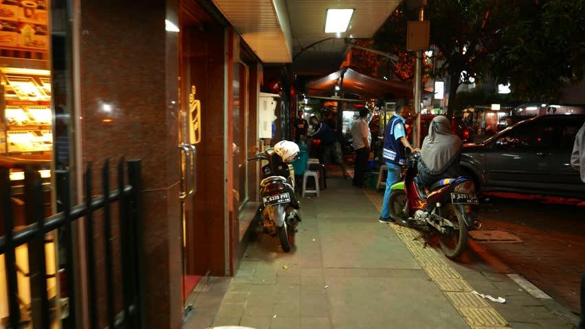 Dark Kitchen At Night jakarta, indonesia - march 09, 2015: night street eatery prepare