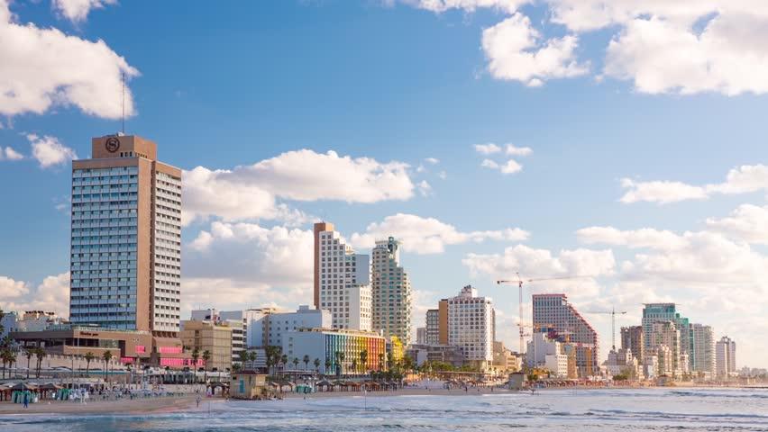 Tel Aviv Hd: Stock Video Of Israel, Tel Aviv - Dec, 07,