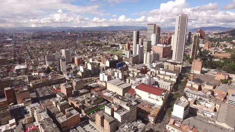 Bogota - Colombia  aerial view downtown