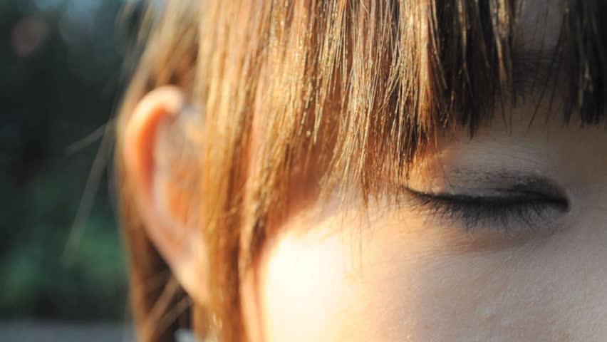 girl's eye.