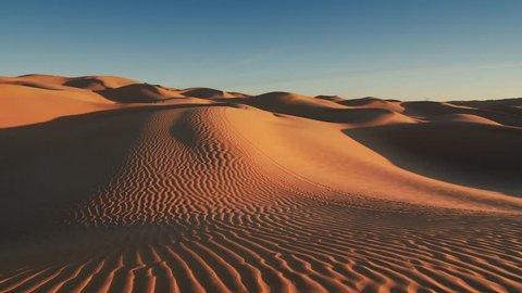Sahara Desert landscape, wonderful dunes early in the morning