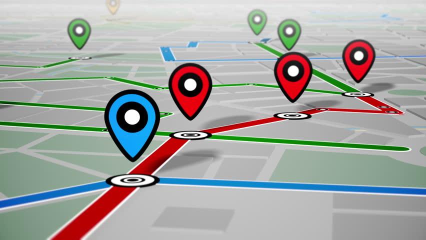 GPS Navigation, Localization. Seamless loop. 4k - Ultra HD. | Shutterstock HD Video #13255631