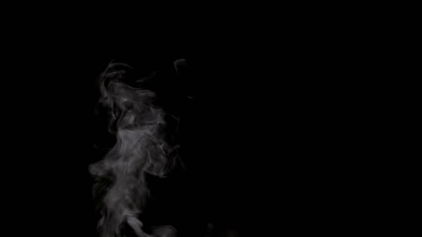 Slow Jet of Steam from a Cup. White smoke on black background. Motion at a rate of 240 fps | Shutterstock HD Video #13255961