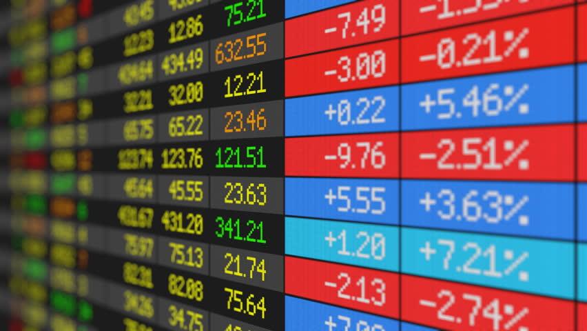 Stock Market board loop-ready HD