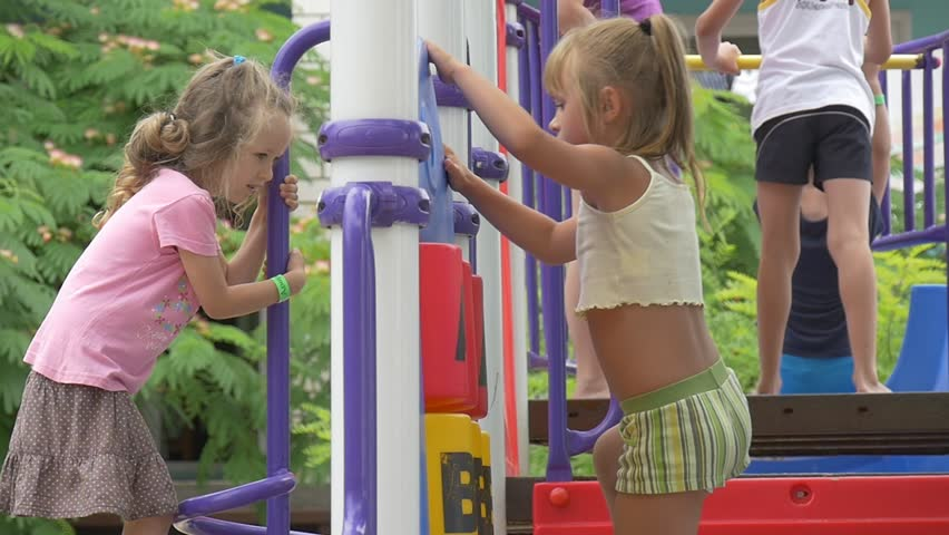 Opole Poland Jul 14 2015 Children Kids Are Playing At