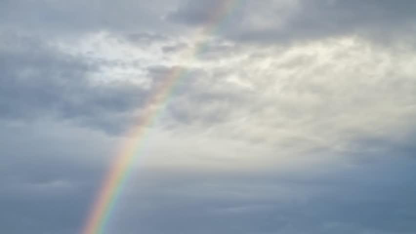 rainbow in sky, timelapse