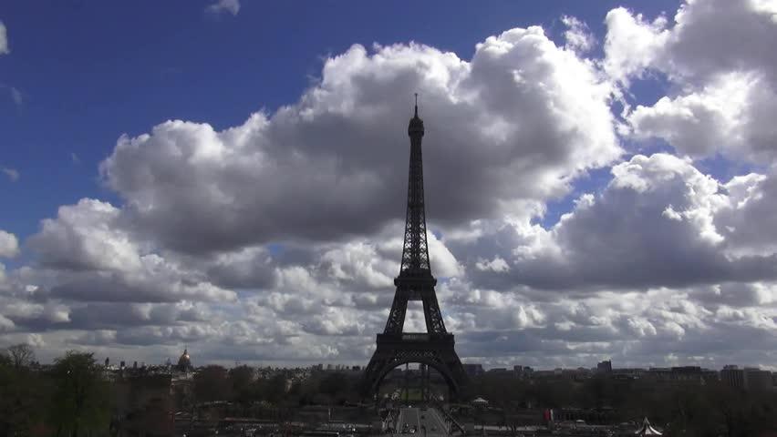 The Eiffel Tower in Paris | Shutterstock HD Video #13293413