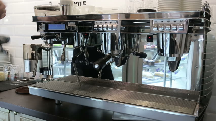 Barista makes two coffees in coffee bar   Shutterstock HD Video #13303184
