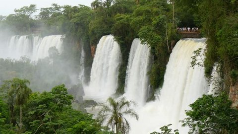 Iguassu(Iguazu) Falls located at the Brazilian and Argentinian border