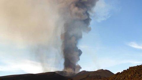 Volcano Etna eruption in December 2015 - Voragine