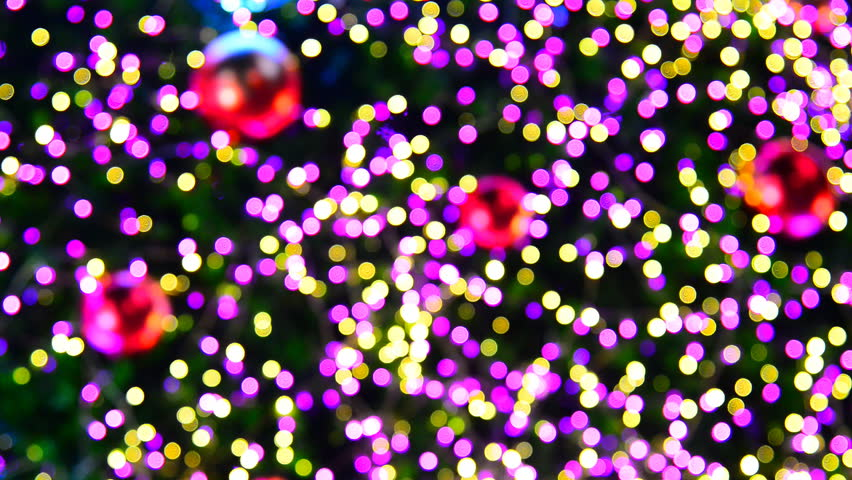 Christmas tree with Colorful bokeh and christmas lights  | Shutterstock HD Video #13372463