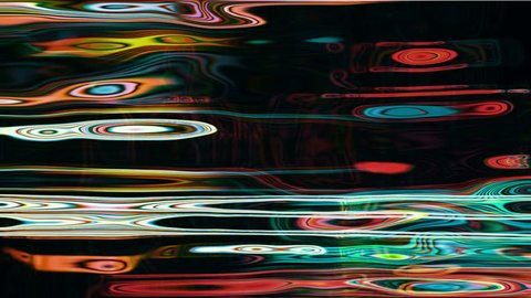 Video Background 2257: Abstract liquid light forms pulse, ripple and flow (Loop).