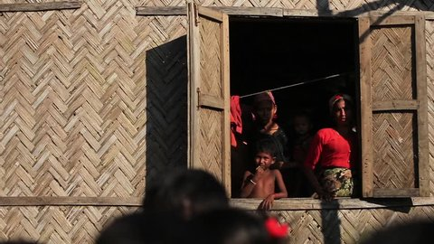 RAKHINE STATE, MYANMAR - NOVEMBER 05 : Hundreds of Muslim Rohingya are suffering severe malnutrition in overcrowded camps in Myanmar's Rakhine state, on NOVEMBER, 2015 in Sittwe, Myanmar.