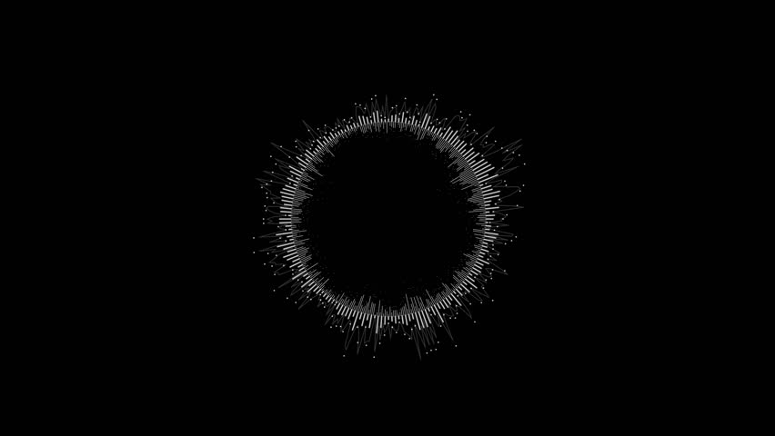 Round Equalizer on a Black Background