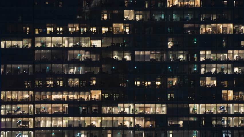 Time lapse of employees populating offices till late in the evening | Shutterstock HD Video #13471253