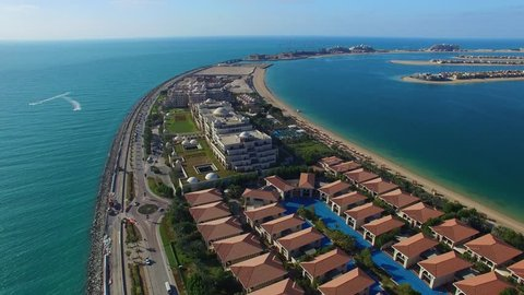 Dubai. Aerial view of Jumeirah Palm Island