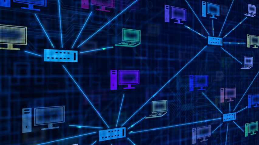 Background of computer network plan graphic. | Shutterstock HD Video #1355677
