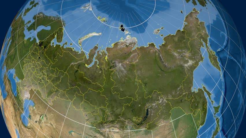 Sevastopol Region Extruded On The Satellite Map Of Russia