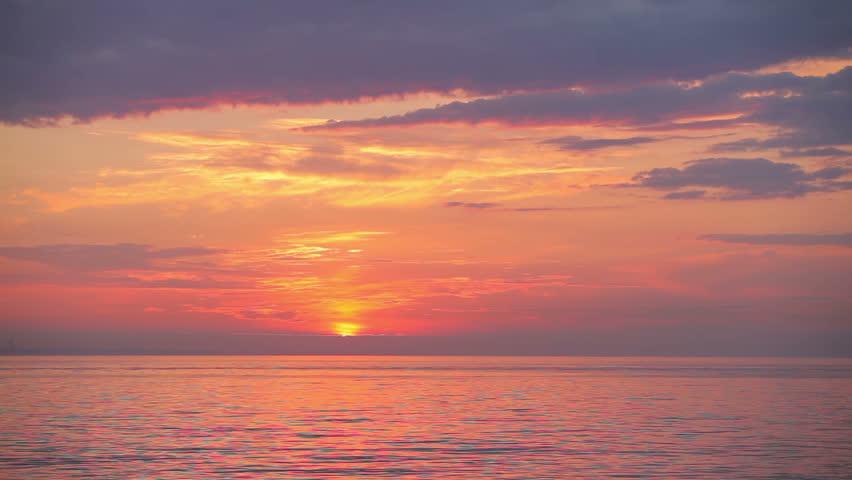 beautiful sunrise over the sea #13653593