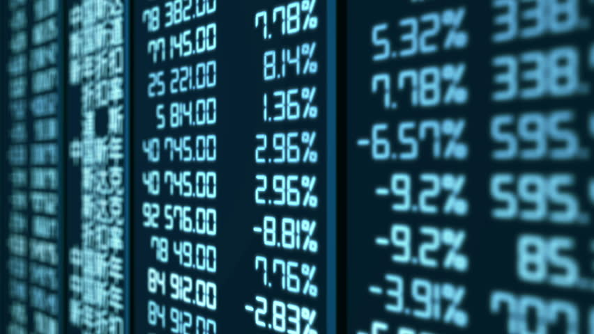 Animated trading statistics at Asian stock market, share price indices updating. Growth or crisis on global stock market, financial data results spreadsheet. Business investment information, analytics | Shutterstock HD Video #13681223